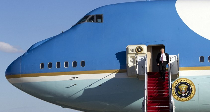 Image result for trump air force one