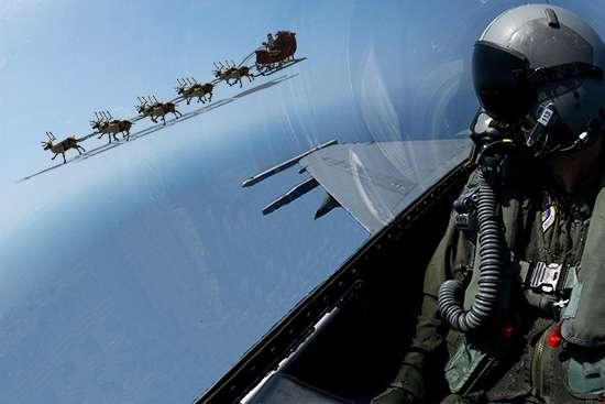 santa fighter jet 1