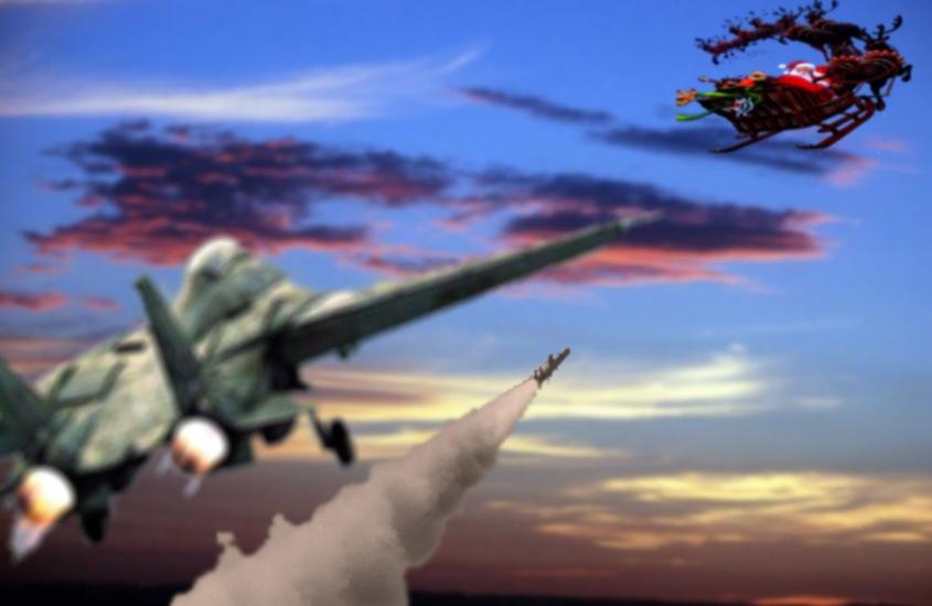 santa fighter jet 2