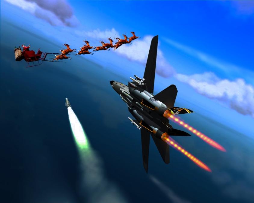 Santa shot down