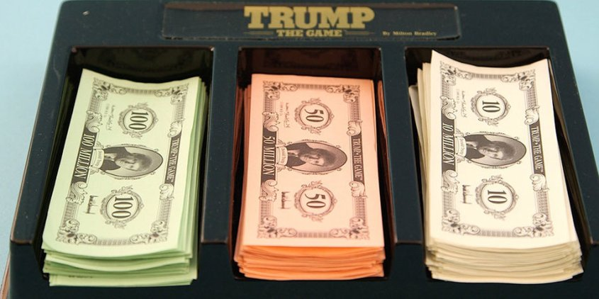 trump the game money